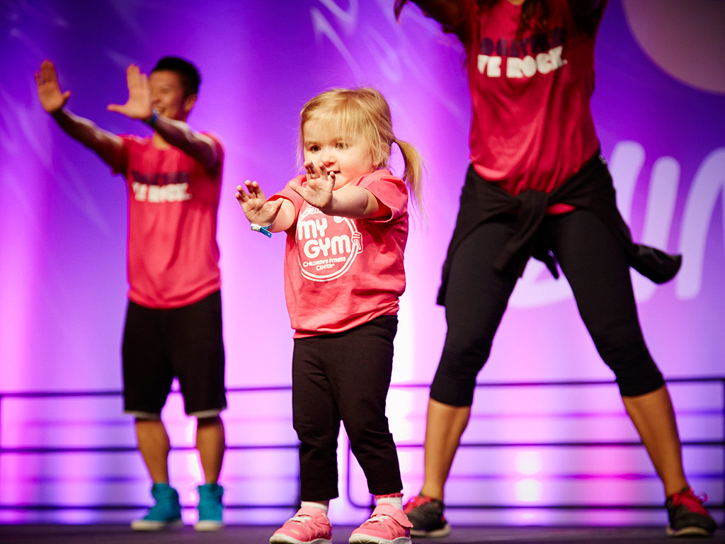 Audrey at the International Zumba Convention